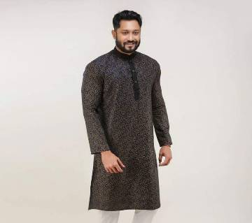 Semi Long Cotton Panjabi For Men