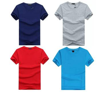 Half Sleeve Cotton T Shirt For Men Combo Offer 4 Piece