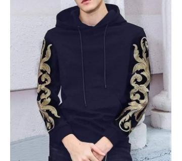 full sleeve cotton hoodie for men