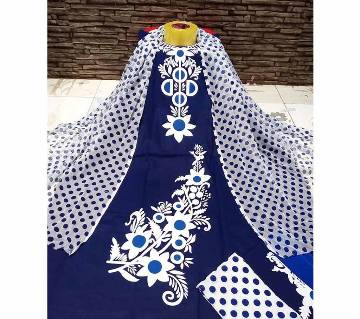 Block Printed Unstitched Salwar Kameez for women