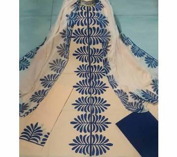 Block Printed Unstitched Salwar Kameez for women