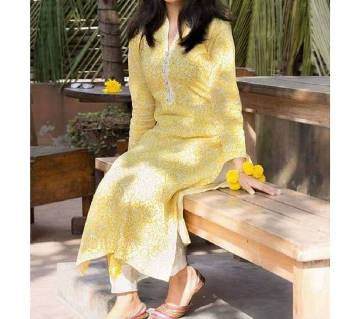 Block Printed Unstitched Salwar Kameez(High Quality) for women