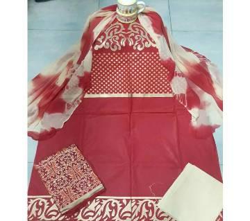 Block Printed Unstitched Salwar Kameez
