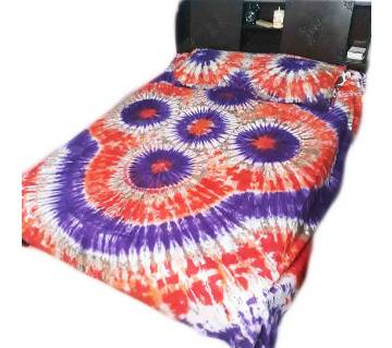 Batik Double Size Bed Sheet Set