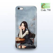 Lady with Bird Customized Mobile Back Cover