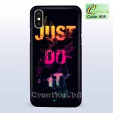 Just Do It Customized Mobile Back Cover