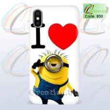 I Love Minion Customized Mobile Back Cover