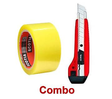 Trasparent Masking Tape 35m & DELI ????? ????? (BIG) RED - Combo
