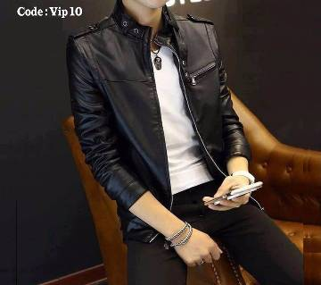 Gents Full Sleeve Artificial Leather Jacket