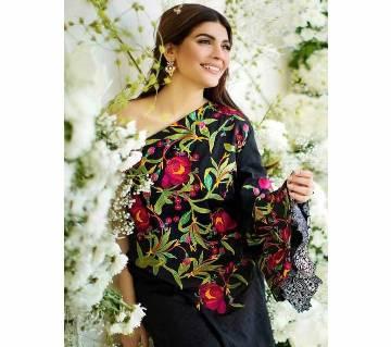 Unstitched Embroidered Lawn Salwar Kameez
