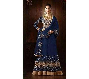Semi-stitched Indian Replica Georgette Long Suit