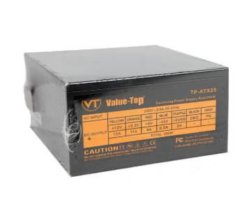 Value Top TP-ATX25 Real 250W ATX Black Power Supply