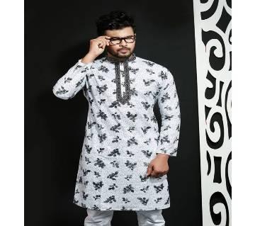 Indian Semi Long Cotton Panjabi for Men