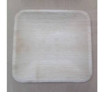 10 inch Square Disposable Areca Leaf Plate - 50 pieces