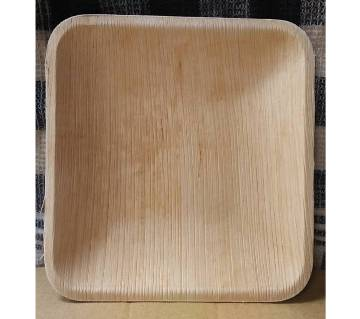 6 inch Square Disposable Areca Leaf Plate - 150 pieces