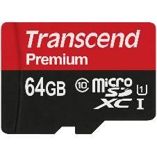 Transcend 64GB microSDXC/SDHC Class 10 UHS-I 400x Memory Card