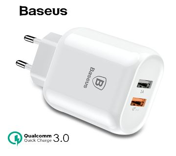 Baseus GS-518 Mini Dual USB Travel Wall Charger Power Adapter