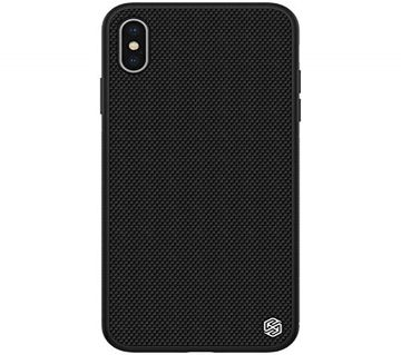 Nillkin Textured Nylon Fiber Luxury Look and Grip Hard Plastic Back Cover Case for Apple iPhone Xs Max (6.5 inch, Black)