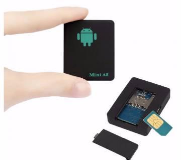 Mini A8 SIM Device Voice Tracker - Black