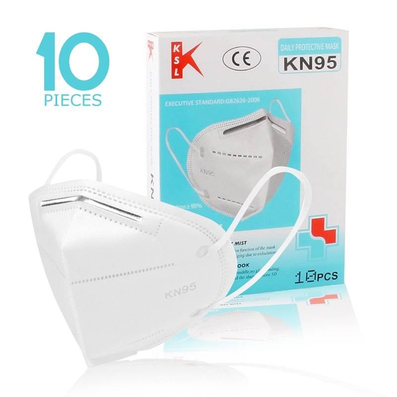 KSL - KN95 breathing mask 5Layer-White(1Box=10pcs) বাংলাদেশ - 1149842