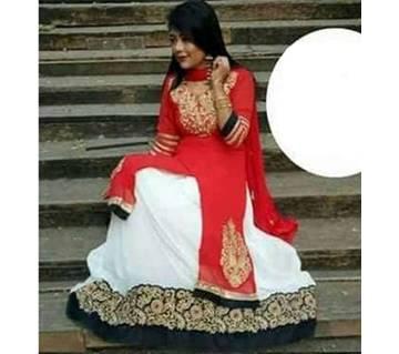 Sharara আনস্টিচড জর্জেট গাউন