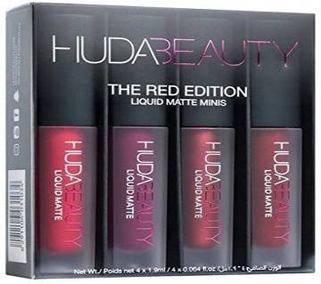 Huda Beauty লিকুইড ম্যাট লিপস্টিক মিনি সেট - The Red Edition - UK