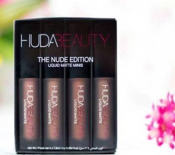 Huda Beauty Liquid Matte Lipstick Mini Set The Nude Edition - UK