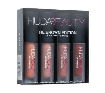 Huda Beauty Liquid Matte Lipstick Mini Set Brown Edition - UK