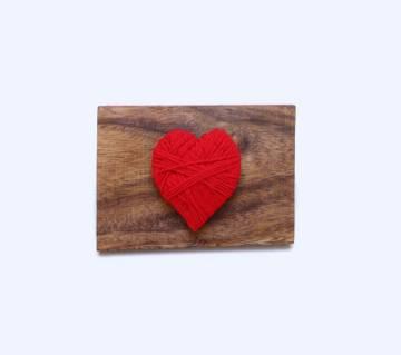 Love Wooden ক্রাফট অন রিয়েল উড ভ্যালনেটাইন গিফট