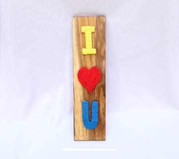 I Love You on wood ভ্যালনেটাইন গিফট