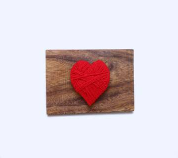 Love Wooden craft on real wood