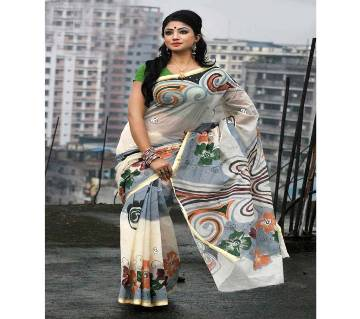 Cotton kota hand print Saree