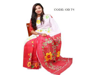 Silk hand paint saree