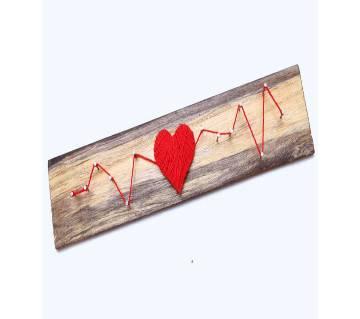 Love Heart Beat on wood