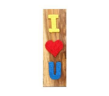 I Love You on wood