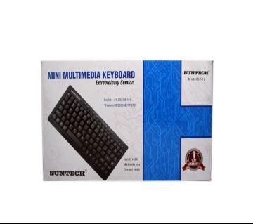 মিনি USB মাল্টিমিডিয়া স্লিম কীবোর্ড - ব্ল্যাক
