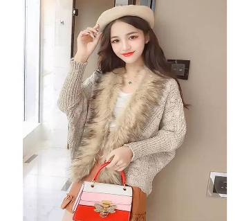 Ladies stylish warmable soft winter sweater