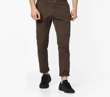 Brown Color Slim Fit Chino Gabardine Pant for Men