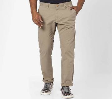 Gray Color Slim Fit Chino Gabardine Pant for Men