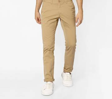 Khaki Color Slim Fit Chino Gabardine Pant for Men