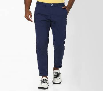 Navy Blue Color Slim Fit Chino Gabardine Pant for Men