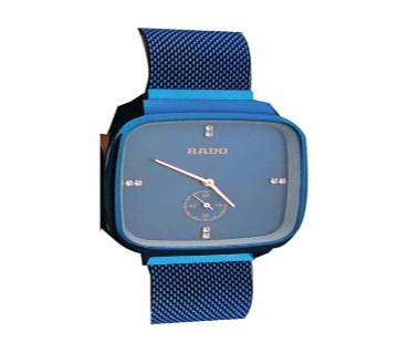 Magnet Stainless Steel analog sixty second Watch for Men-Blue