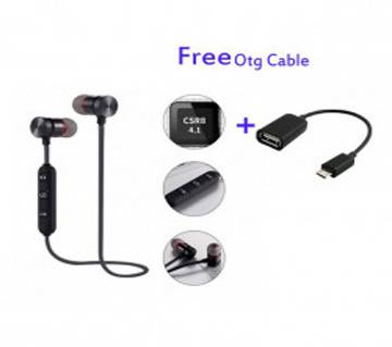 Wireless Bluetooth Earphone with OTG Cable Combo