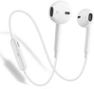 S6 Wireless  Sports Stereo Headset - White