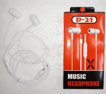 In-Ear Headphones D21 for all Phones