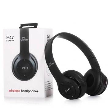 P47 Wireless Bluetooth Stereo Headphone 5.0+EDR with SD Card Slot and FM radio