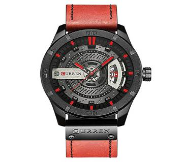 Analog watch for Men with Quartz Leather Band Date Display Waterproof Wrist Watch