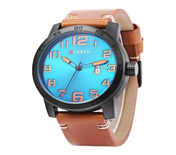 CURREN 8254 Leather Analog Watch for Men