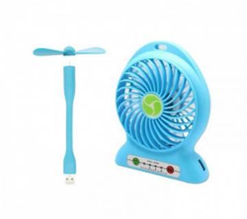 Combo of Rechargeable Fan & USB Fan