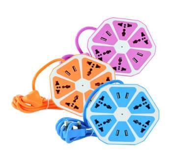 Universal 4 USB Hexagon Power Socket